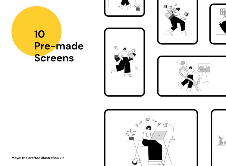 Crafted Illustration Kit Free - UI Freebies