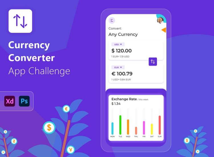 Currency Converter App Free 2 - UI Freebies