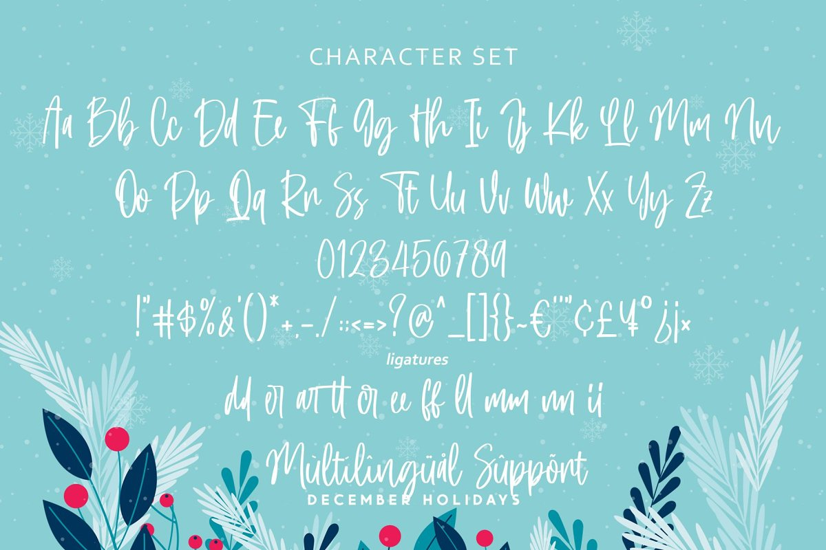 December Holidays Font 2 - UI Freebies