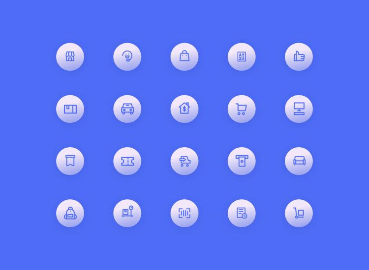 Ecommerce Icon Set 2 - UI Freebies