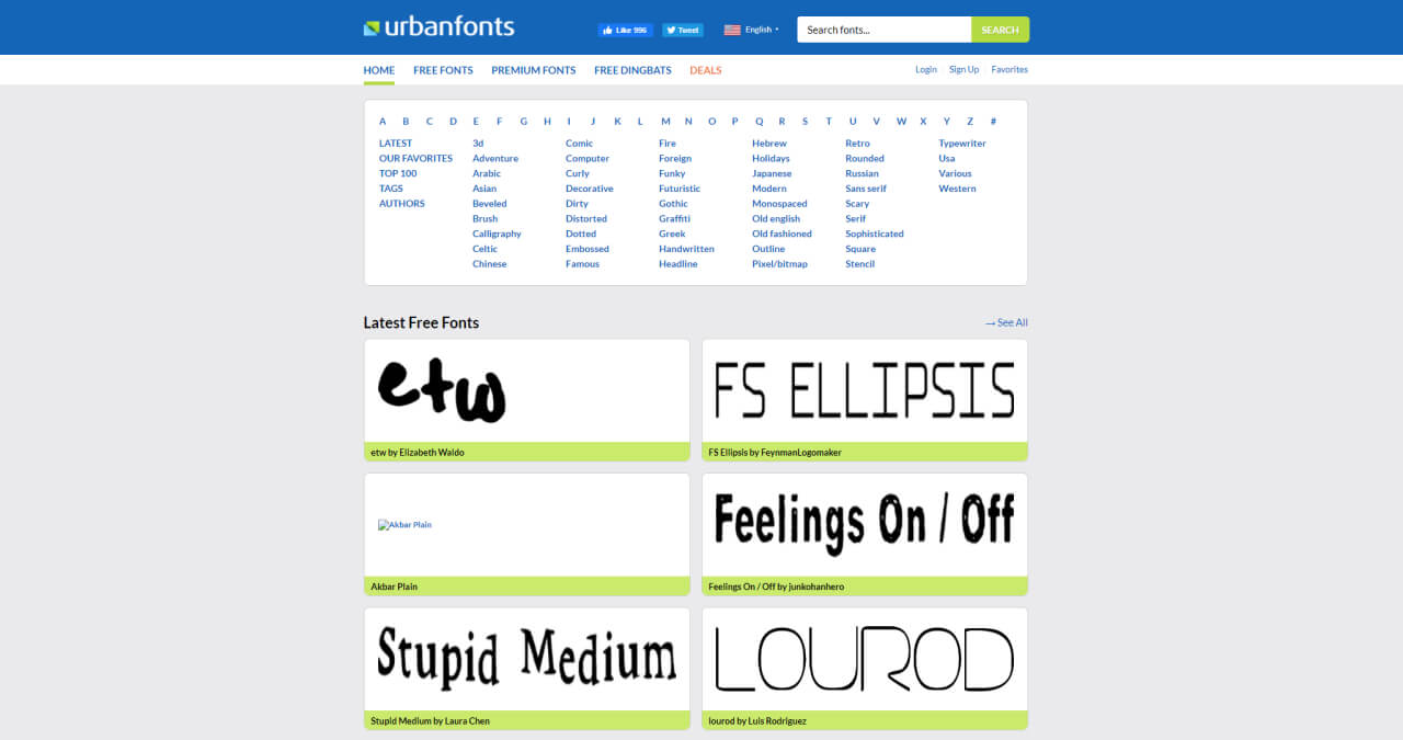 8 Best Free Fonts Download Websites - UI Freebies