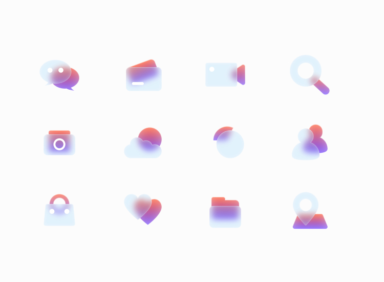 Free Glass Icons 3 - UI Freebies