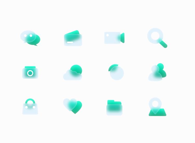 Free Glass Icons 4 - UI Freebies