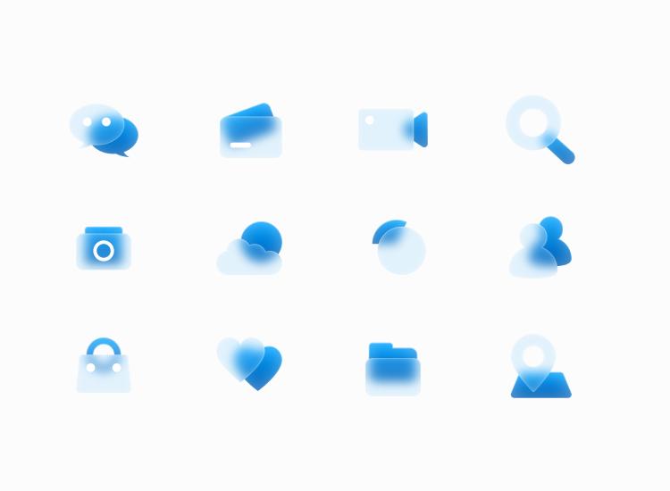 Free Glass Icons 5 - UI Freebies