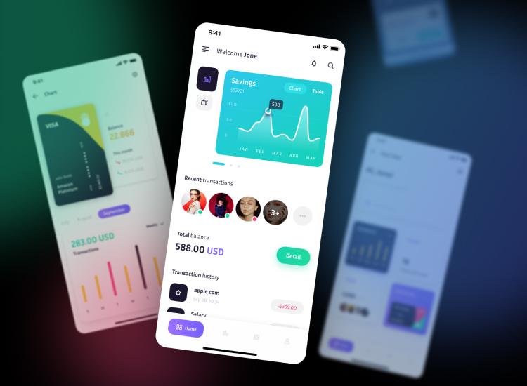 Mobile Banking UI Design Free - UI Freebies