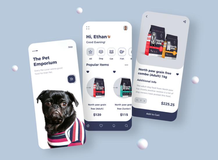 Pet Store App Design Free