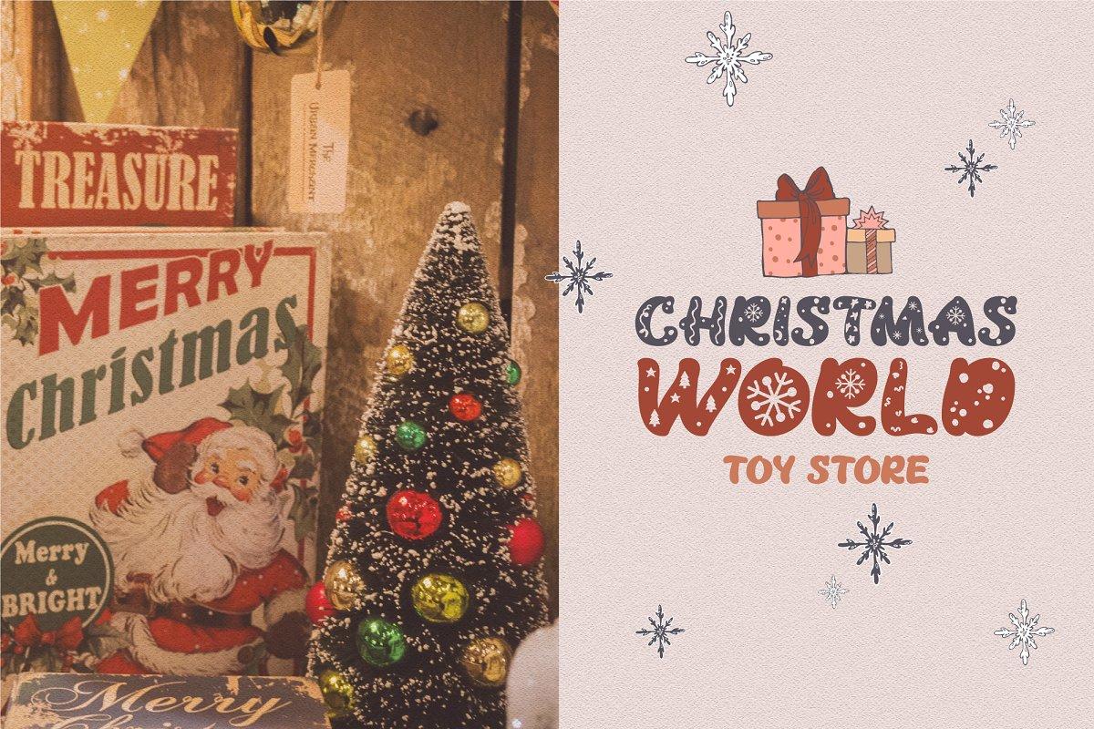 Snowflake Christmas Font-2