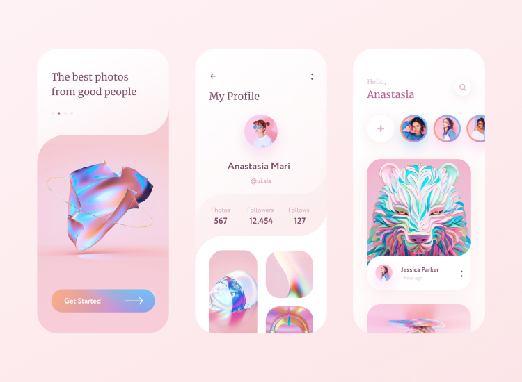 Social App UI Kit 2 - UI Freebies