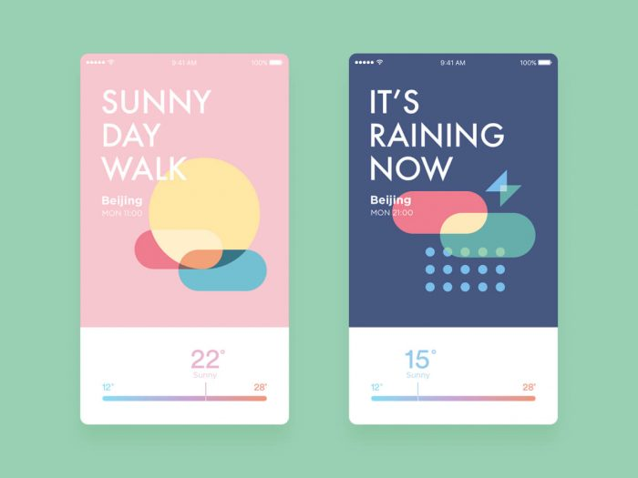 beautiful weather app 20 - UI Freebies