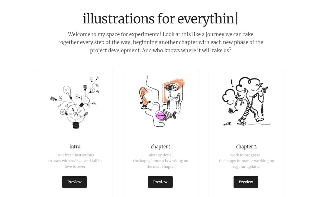best illustration websites absurd - UI Freebies