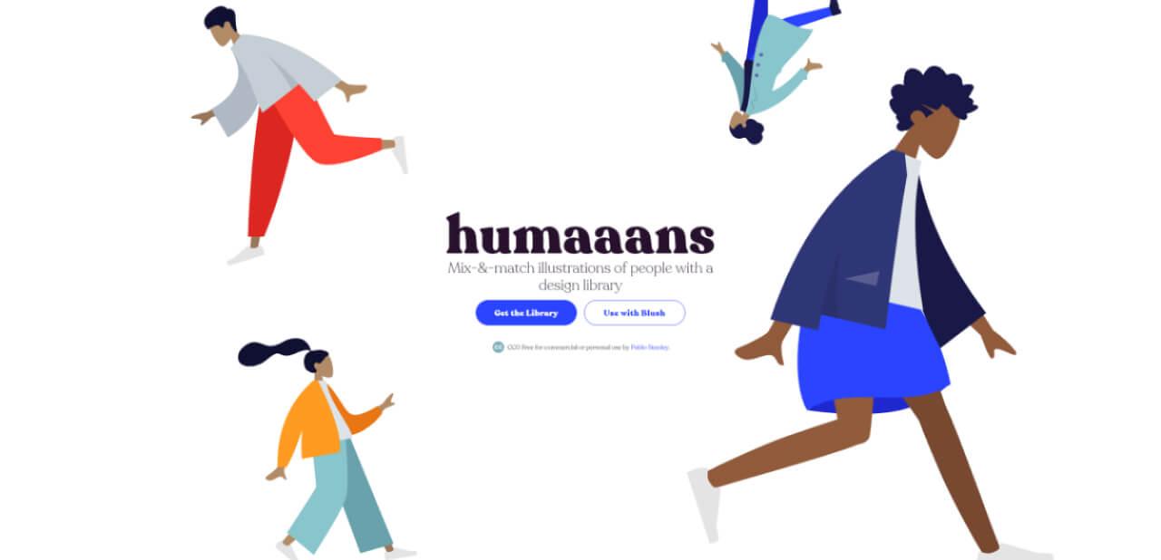best illustration websites humaaans - UI Freebies