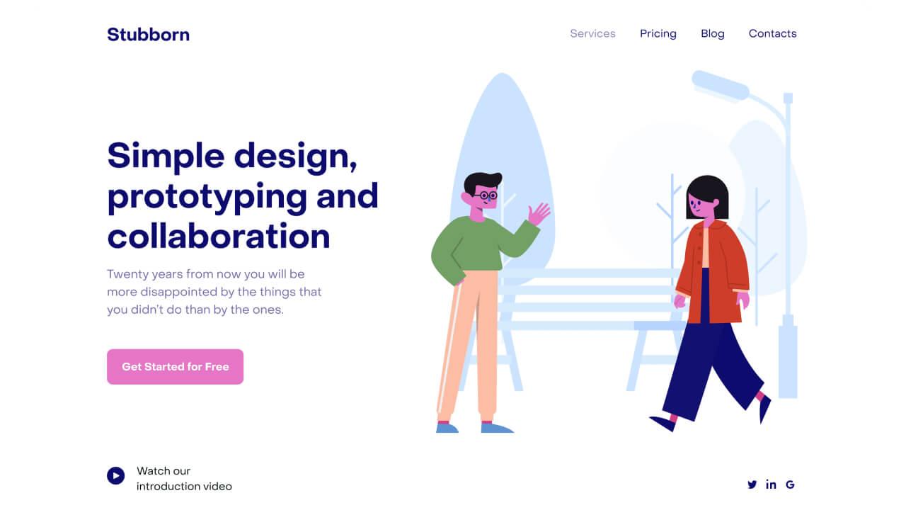 best illustration websites stubborn - UI Freebies