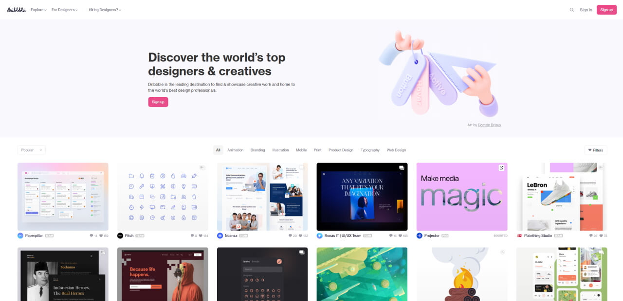 find design inspiration dribbble - UI Freebies