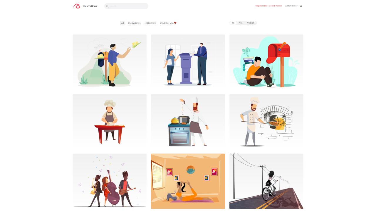 free illustrations websites illustratious - UI Freebies