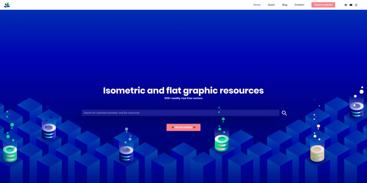 free illustrations websites isoflat - UI Freebies