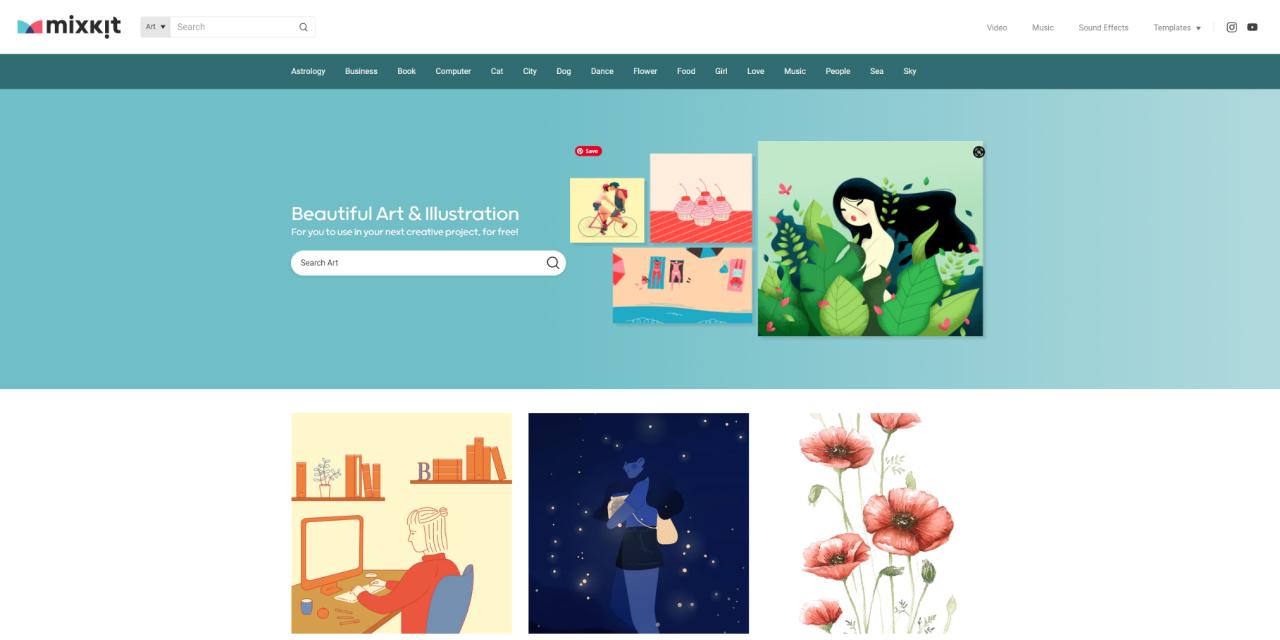 free illustrations websites - UI Freebies