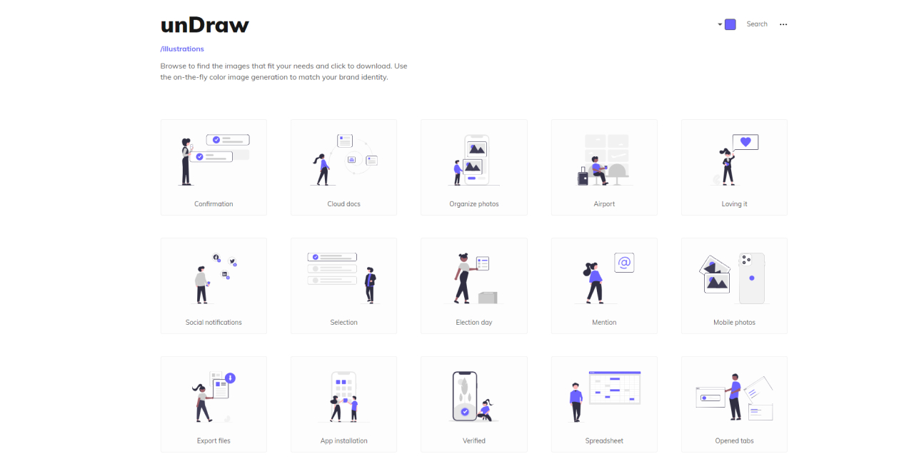 free illustrations websites undraw - UI Freebies