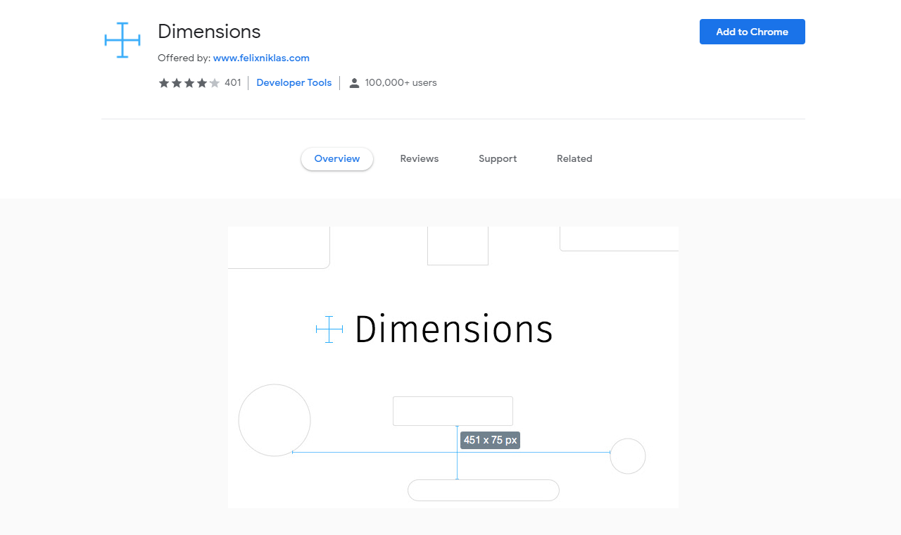 useful chrome extension dimensions - UI Freebies