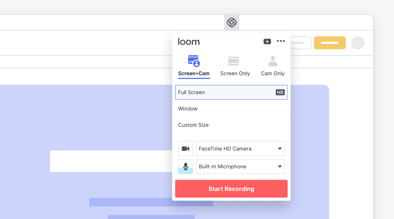 useful chrome extension loom - UI Freebies
