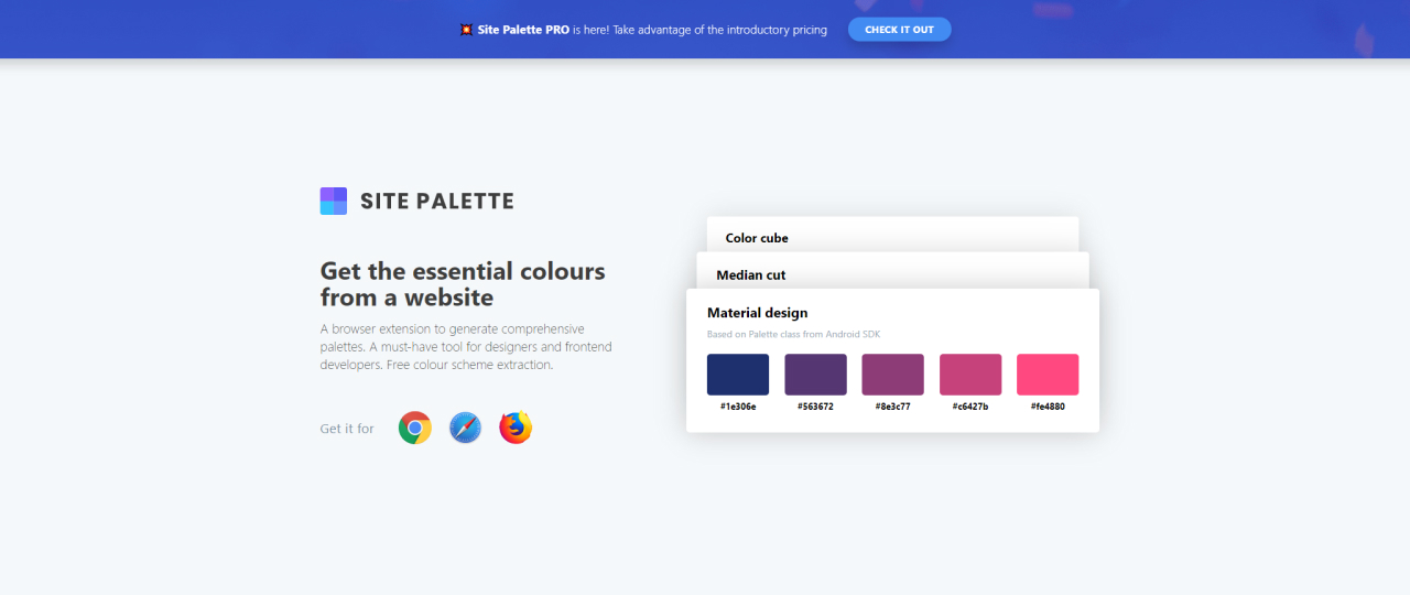 useful chrome extension site palette - UI Freebies