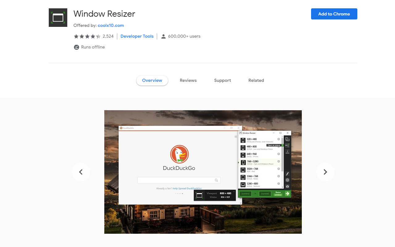 useful chrome extension window resizer - UI Freebies