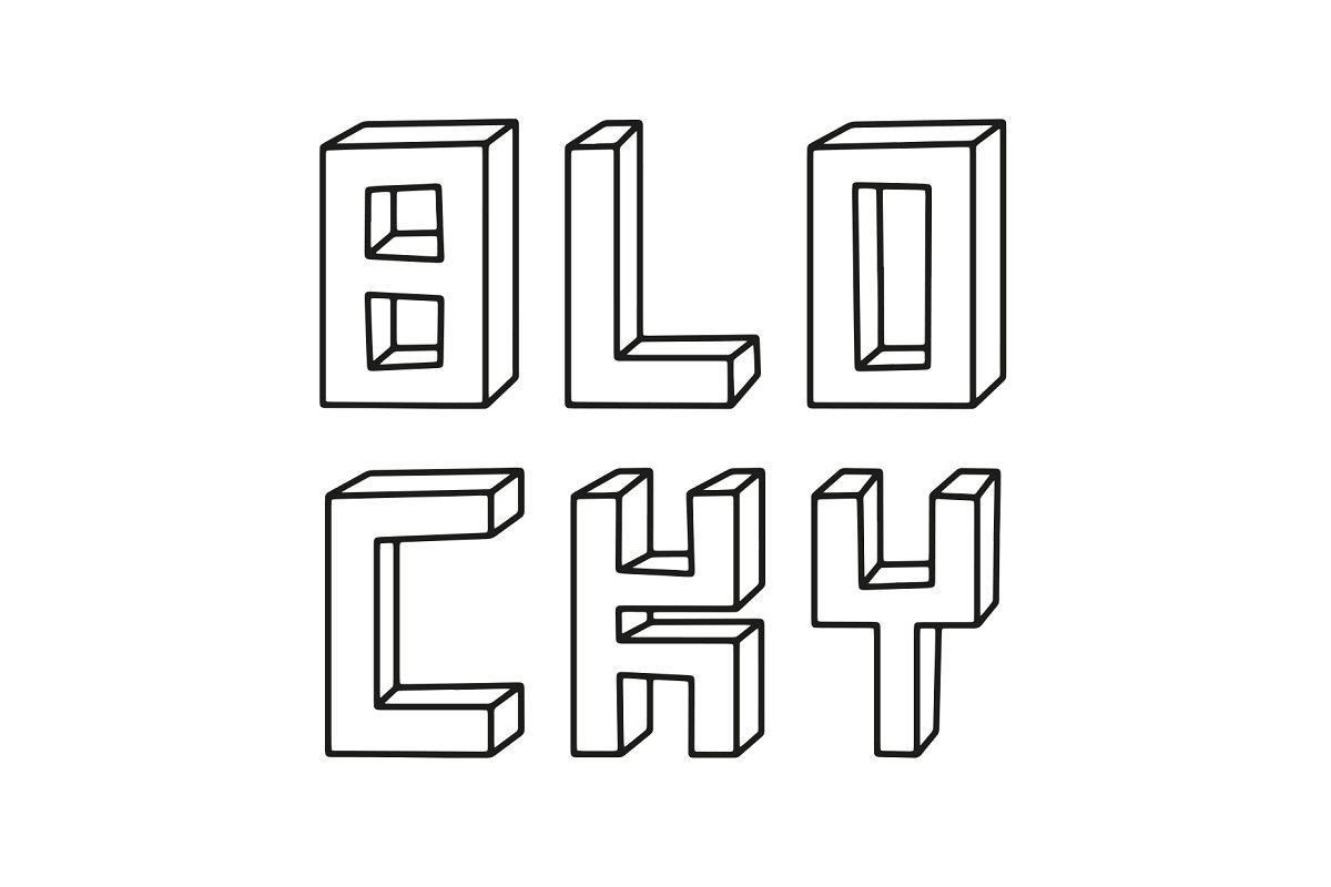 3d font blocky - UI Freebies