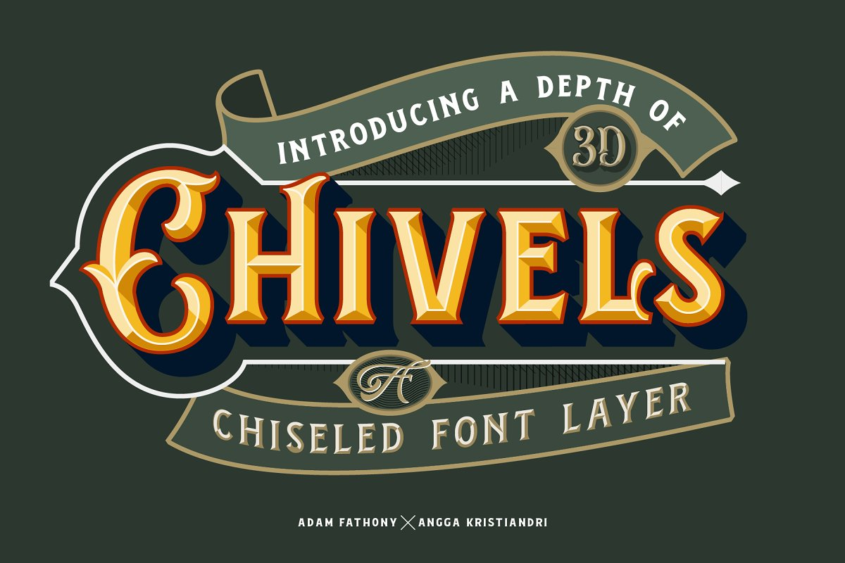 3d font chivels - UI Freebies