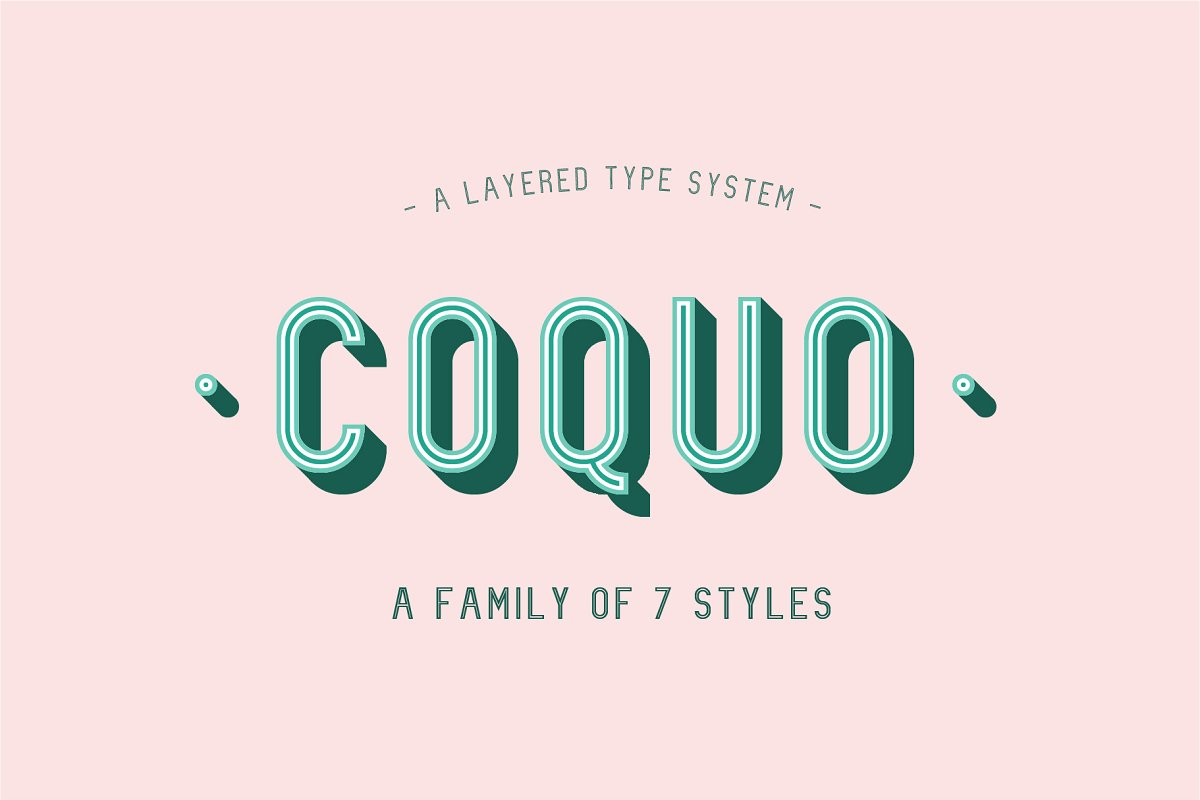 3d font coquo - UI Freebies
