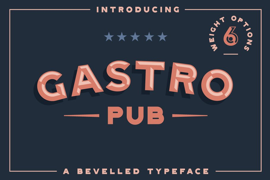 3d font gastro - UI Freebies