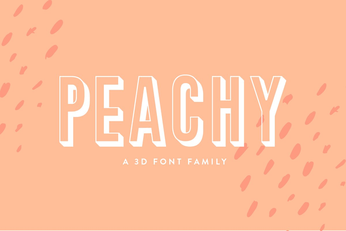 3d font peachy - UI Freebies