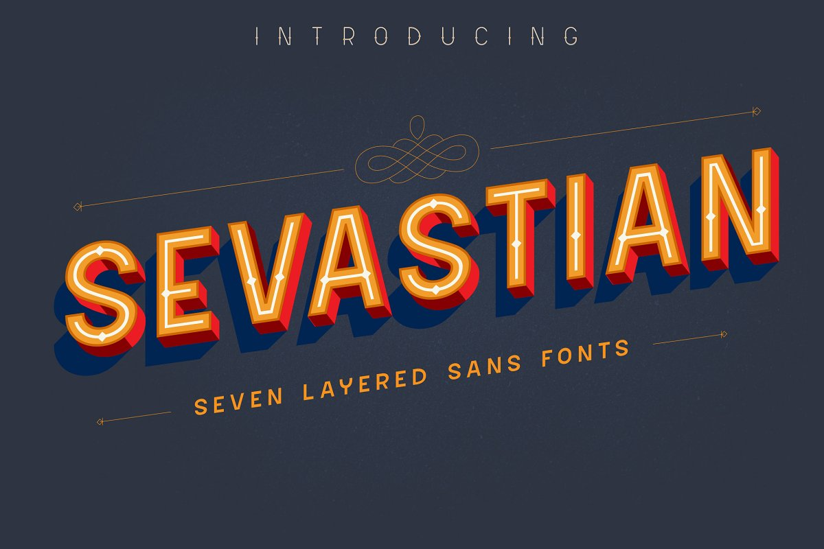 3d font sevastian - UI Freebies