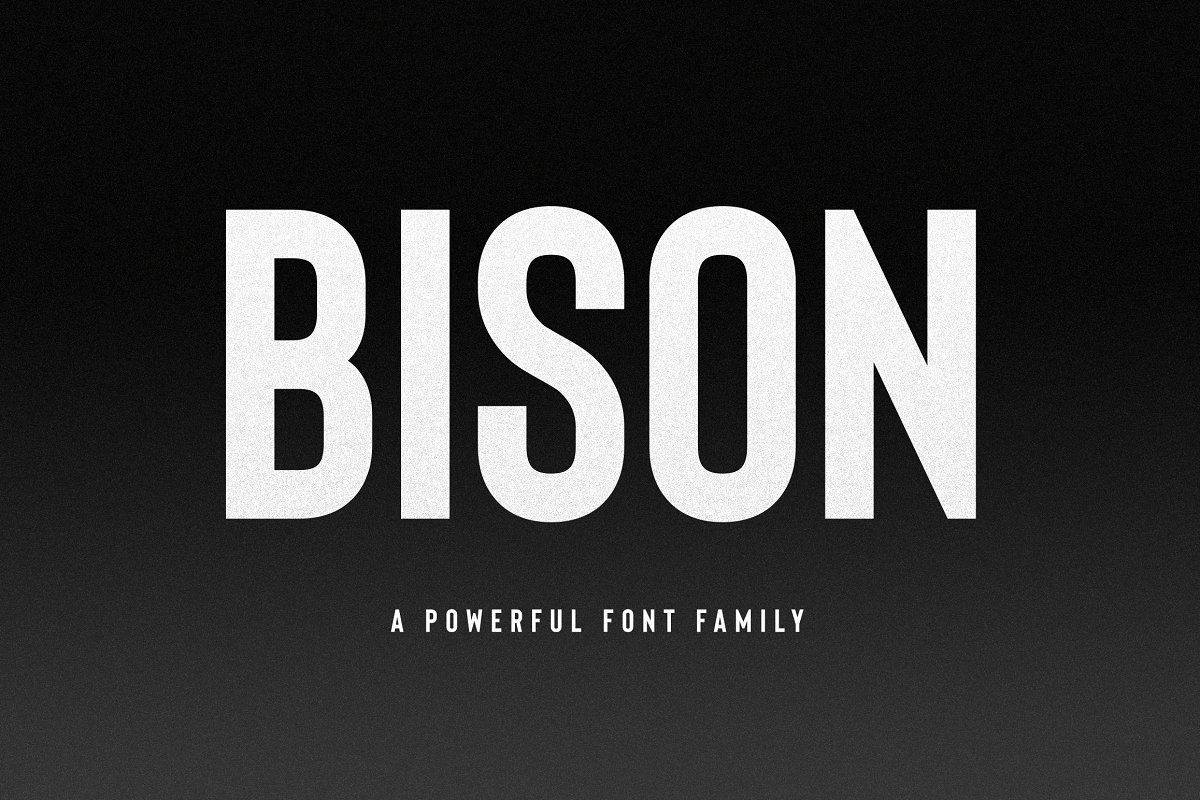 Bison A Powerful Sans Serif - UI Freebies