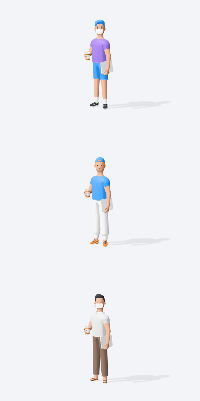 Free 3D Characters 2 - UI Freebies