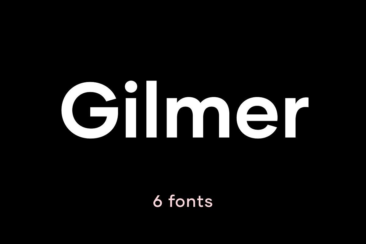 Gilmer Geometric Sans Serif - UI Freebies
