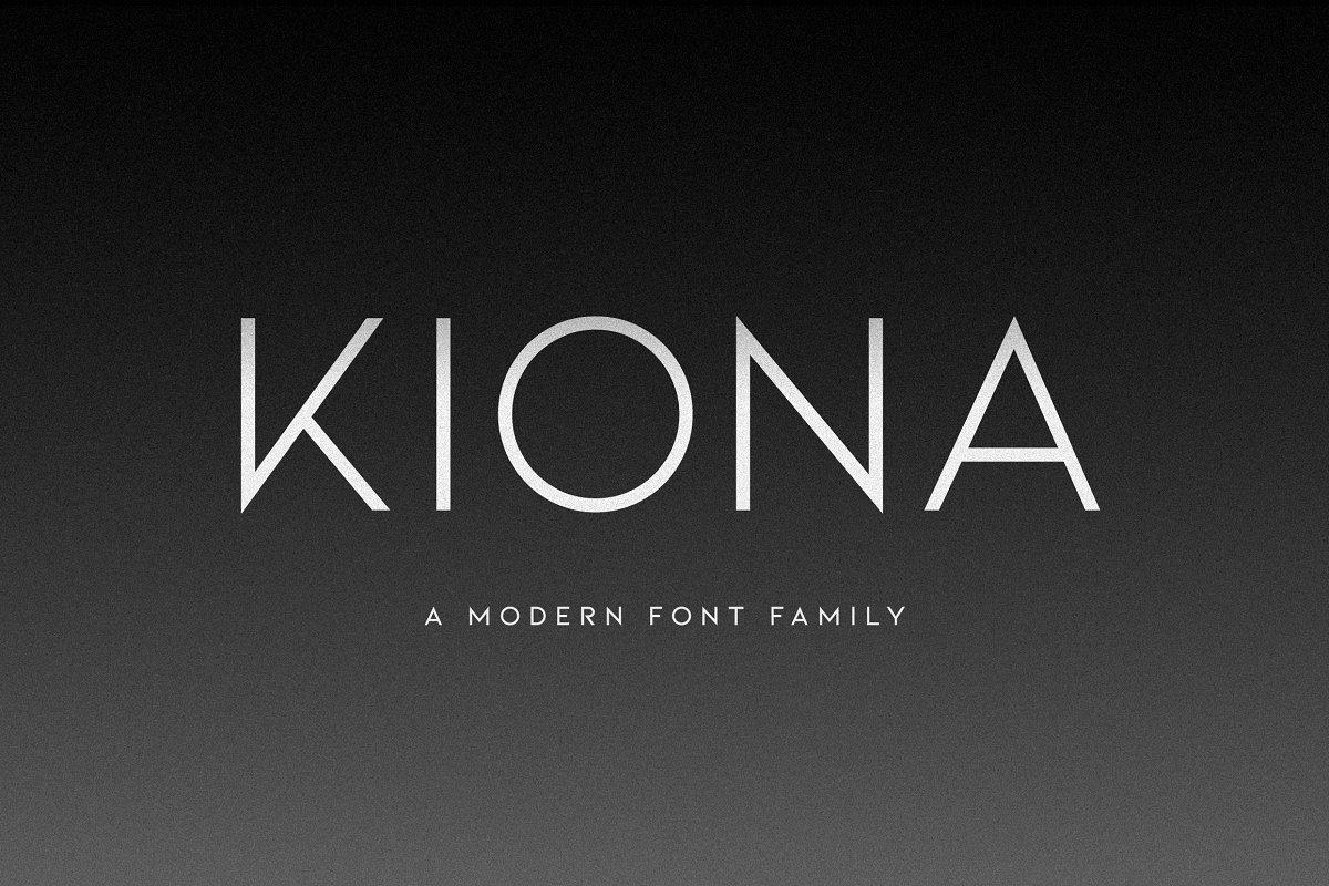 KIONA A Modern Sans Serif - UI Freebies