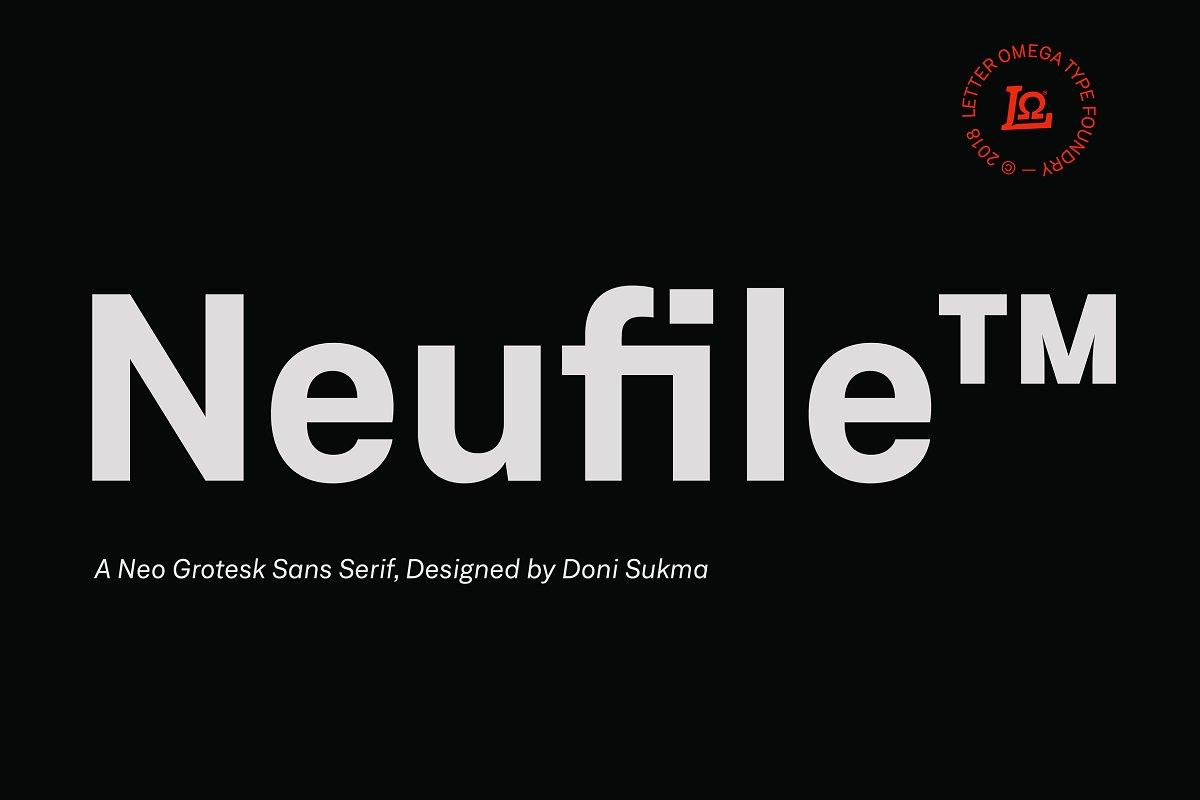 Neufile Grotesk™ - UI Freebies