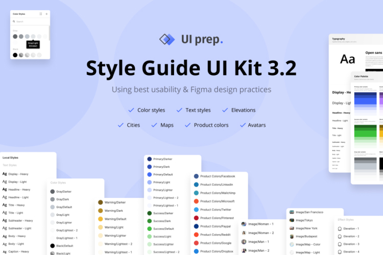 Style Guide UI Kit Free