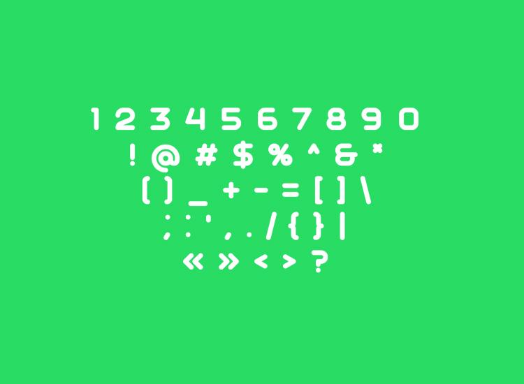 aqum rounded font 3 - UI Freebies