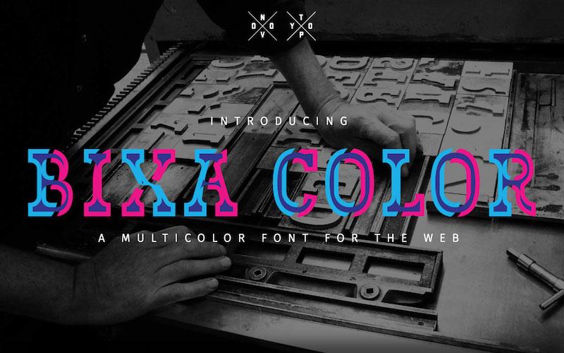 color fonts - UI Freebies
