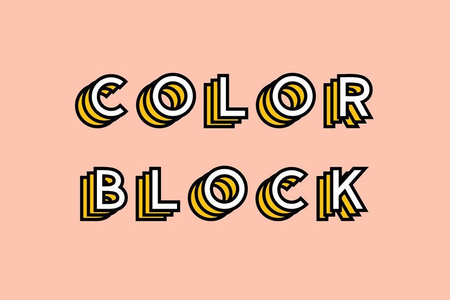 color fonts colorblock - UI Freebies