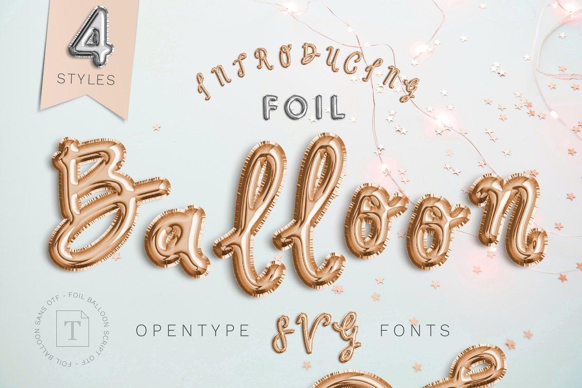 color fonts foilballon - UI Freebies