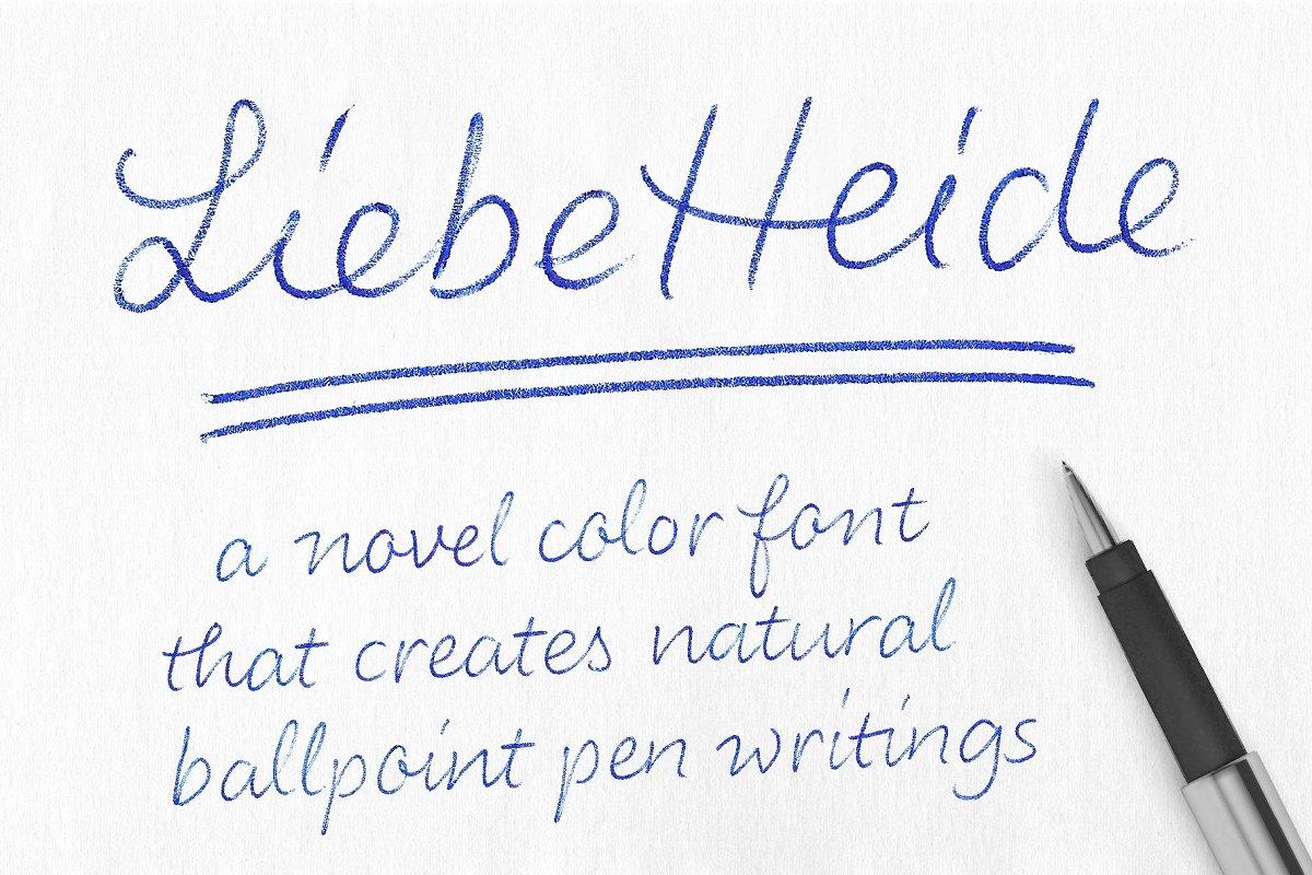 color fonts liebeheide - UI Freebies