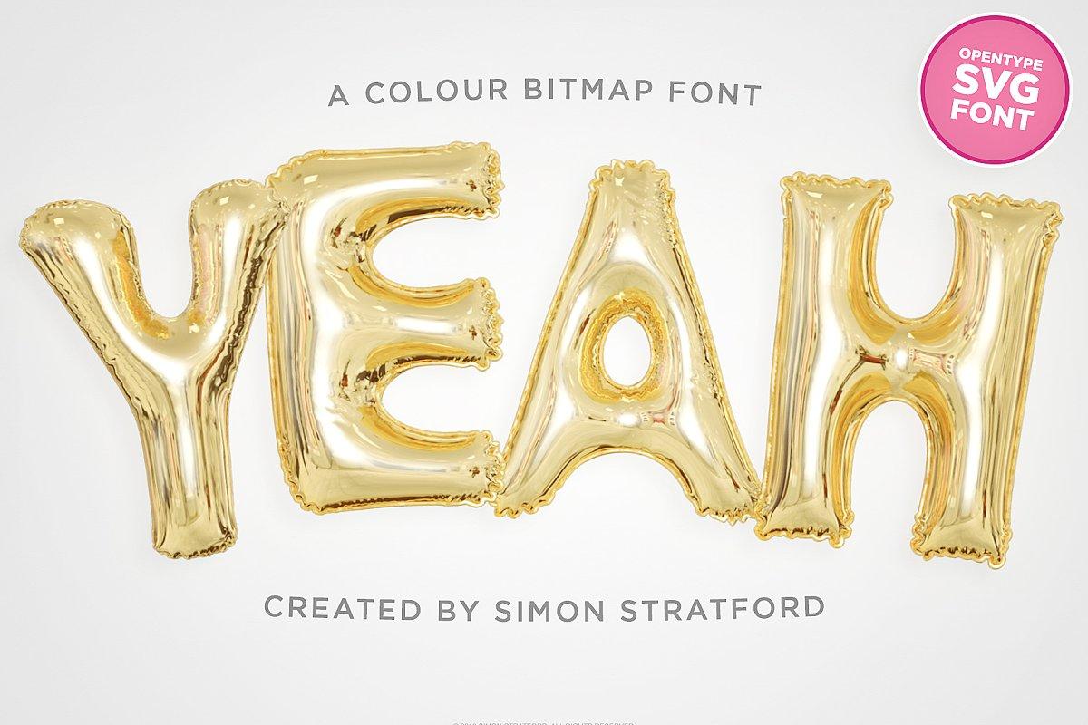 color fonts yeah - UI Freebies