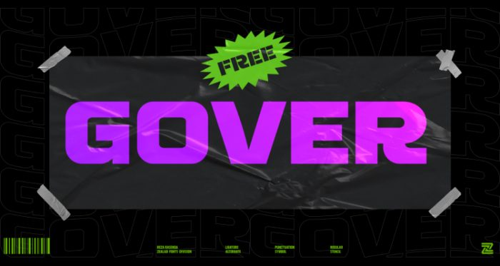 display font gover - UI Freebies