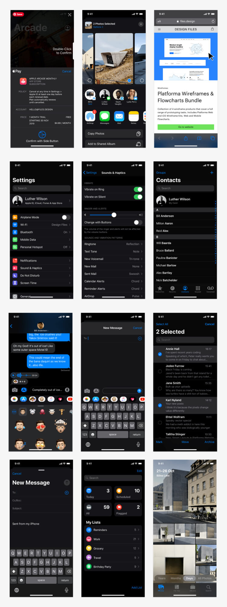 ios 13 gui free 1 - UI Freebies