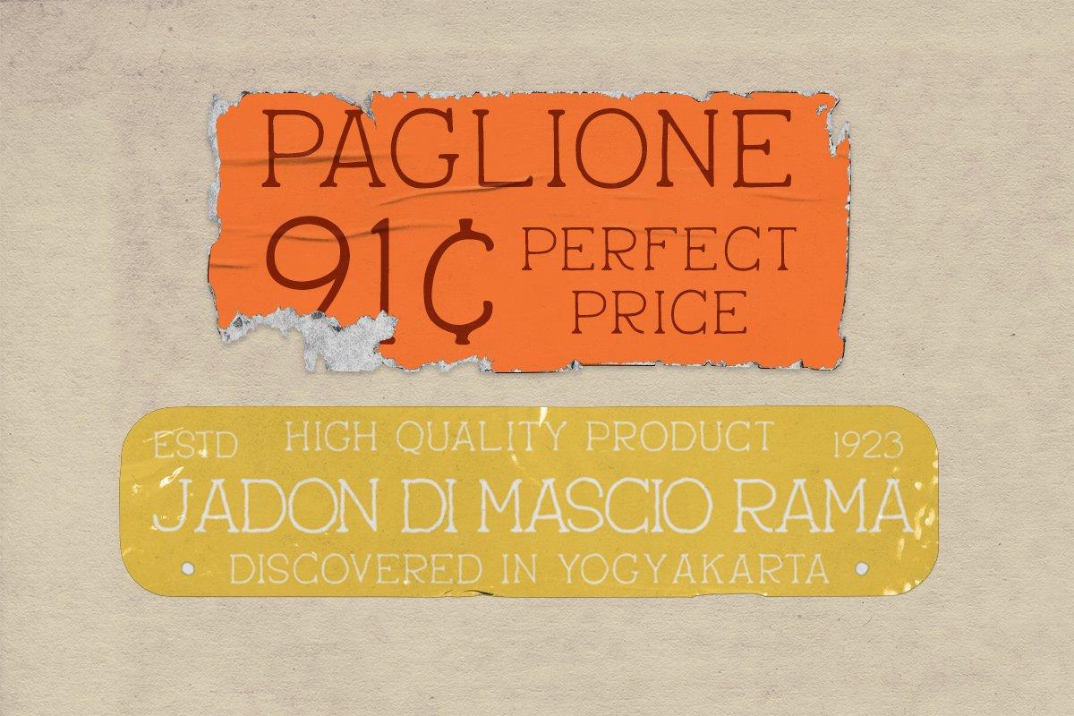 pantaleone vintage typeface 3 - UI Freebies