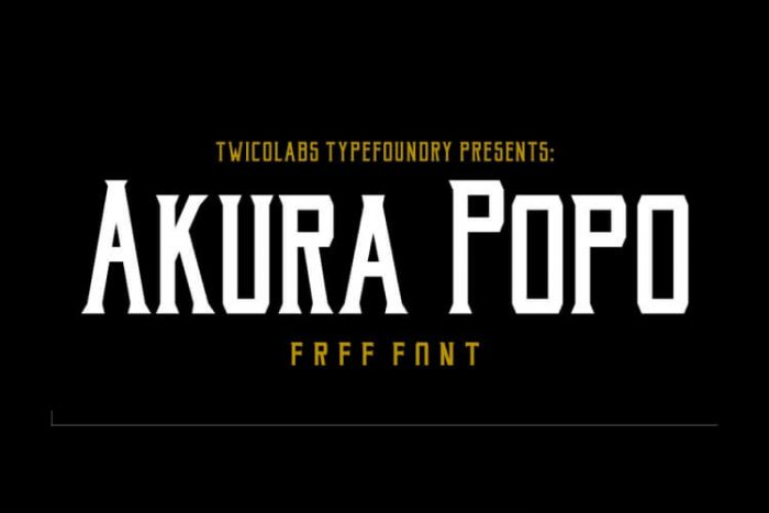 retro vintage fonts akura popo - UI Freebies