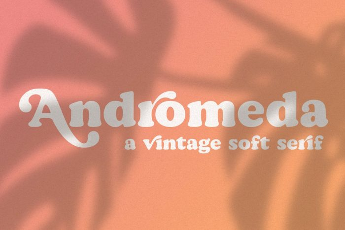 retro vintage fonts andromeda - UI Freebies