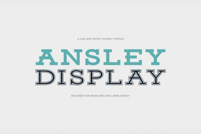 retro vintage fonts ansley display - UI Freebies