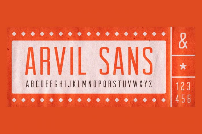 retro vintage fonts arvil - UI Freebies